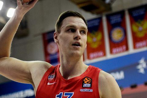 Ο Γιόχαν Φόγκτμαν της ΤΣΣΚΑ Μόσχας, σε φάση από αγώνα των Ρώσων στη EuroLeague