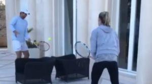Ναδάλ: Τένις στο σπίτι με την αδελφή του, Ίζαμπελ