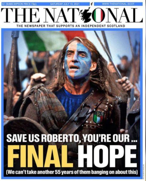"""Το πρωτοσέλιδο της σκωτσέζικης εφημερίδας """"The National"""""""