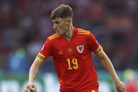 Ο διεθνής Ουαλός ποδοσφαιριστής Ντέιβιντ Μπρουκς στη διάρκεια του Euro 2020   26 Ιουνίου 2021