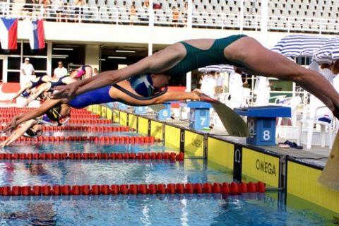 Στιγμιότυπο από αγώνα τεχνικής κολύμβησης