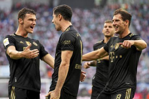 Οι παίκτες της Μπάγερν πανηγυρίζουν τη νίκη επί της Λειψίας για την Bundesliga | 11 Σεπτεμβρίου 2021