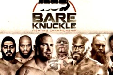 Η old school αφίσα του πρώτου Bare Knuckle event με Rawlings και Spadafora!