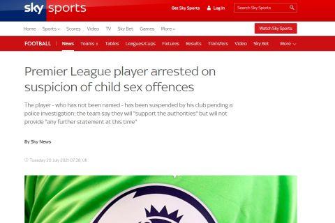Το δημοσίευμα του Sky Sports