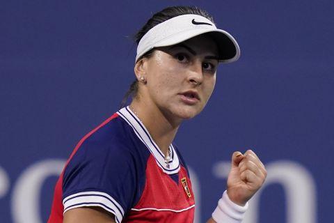 Η Μπιάνκα Αντρεέσκου στη διάρκεια του US Open
