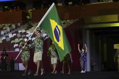 Η Βραζιλία στην παρέλαση των Ολυμπιακών Αγώνων