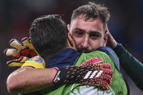 Ο Ντοναρούμα μετά τη νίκη επί των Ισπανών και την πρόκριση των Ιταλών στον τελικό του Euro 2020 | 6 Ιουλίου 2021