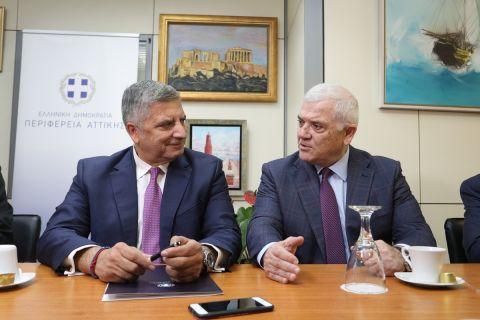 Μελισσανίδης και Πατούλης κατά την υπογραφή της σύμβασης της υπογειοποίησης