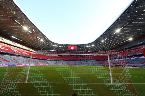 """H έδρα της Μπάγερν Μονάχου, η επιβλητική """"Allianz Arena"""" χωρητικότητας 75.000 θεατών"""