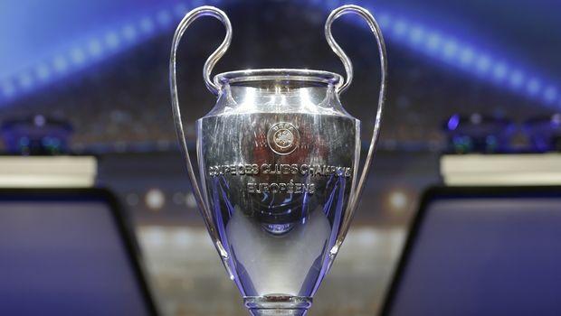 The trophy of UEFA Champions League is put on display before the UEFA Champions League draw at the Grimaldi Forum, in Monaco, Thursday, Aug. 24, 2017. (AP Photo/Claude Paris)