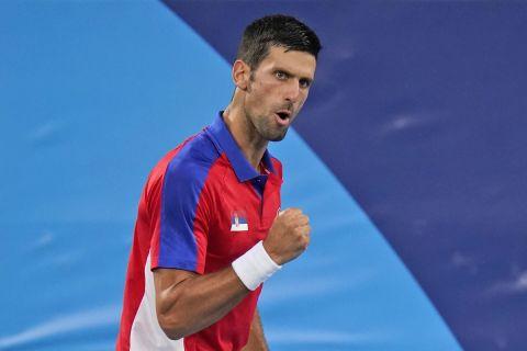 Ο Νόβακ Τζόκοβιτς στο ολυμπιακό τουρνουά του τένις