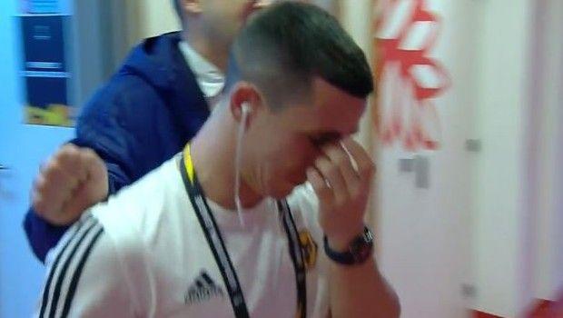 Ολυμπιακός - Γουλβς: Με δάκρυα στα μάτια ο Ποντένσε στα αποδυτήρια