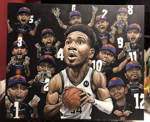 Ο Γιάννης Αντετοκούνμπο ενθουσιάστηκε από απίθανο έργο τέχνης που θα του θυμίζει για πάντα τους NBA Finals 2021