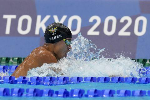 Στιγμιότυπο από την κολύμβηση στους Ολυμπιακούς Αγώνες του Τόκιο