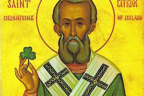 Ο τριφυλλοφόρος Άγιος της Ιρλανδίας