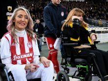 Συγκινητική στιγμή στο ΟΑΚΑ: Μυρτώ και Τόνια μαζί πριν το ΑΕΚ - Ολυμπιακός