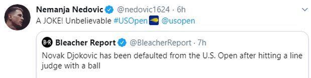 """Νέντοβιτς στο πλευρό του Τζόκοβιτς: """"Γελοίο αυτό που έγινε"""""""