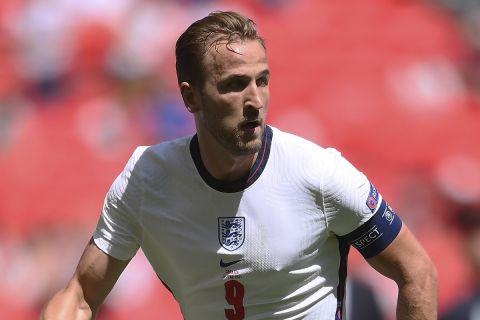 Ο Χάρι Κέιν στην αναμέτρηση της Αγγλίας κόντρα στην Κροατία για το Euro 2020.
