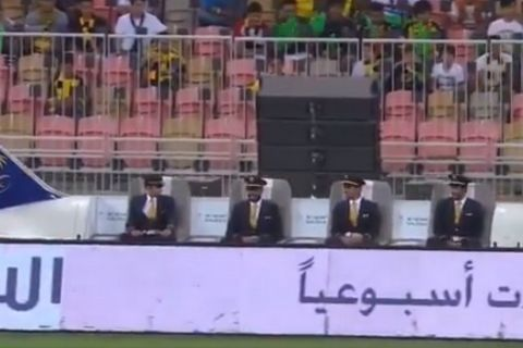 Ένα... αεροπλάνο ακολουθούσε την μπάλα στο κύπελλο Σαουδικής Αραβίας