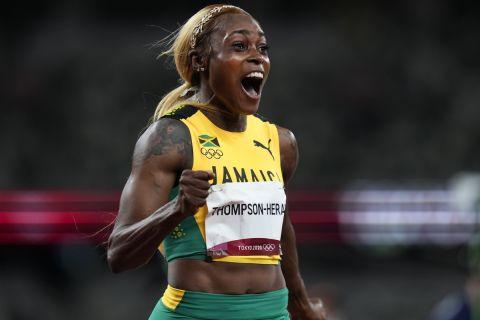 Η Ελέιν Τόμπσον κέρδισε την κούρσα των 100μ. στους Ολυμπιακούς Αγώνες