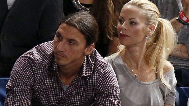 Ο Ζλάταν Ιμπραχίμοβιτς μαζί με τη σύντροφό του Έλενα Σέγκερ