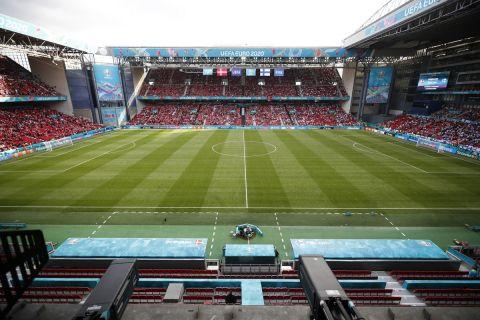 Το Parken Stadium στην αναμέτρηση της Δανίας με τη Φινλανδία για το Euro 2020.
