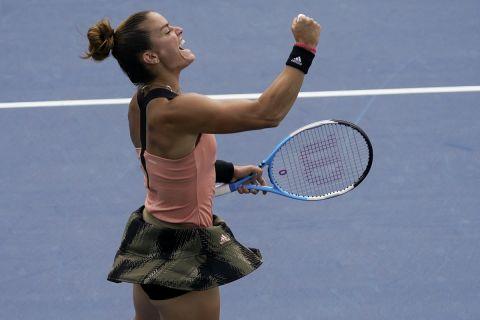 Η Μαρία Σάκκαρη στην νίκη επί της Κόστιουκ στον 1ο γύρο του US Open