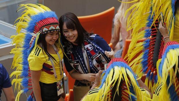 Photos: Ιαπωνία - Κολομβία, η μάχη της εξέδρας