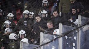 """Ένταση με οπαδούς της Ντινάμο και την αστυνομία στο """"Γ. Καραϊσκάκης"""""""