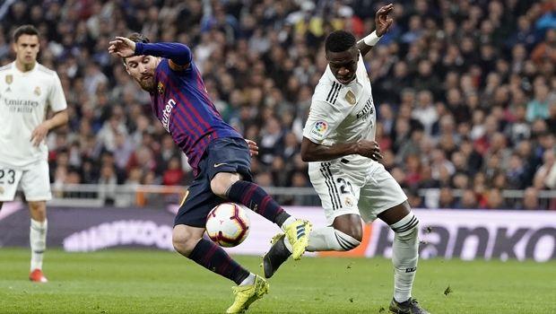 Lionel Messi, Vinicius Junior, Barcelona, Real (AP IMAGES/AP Photo/Andrea Comas)