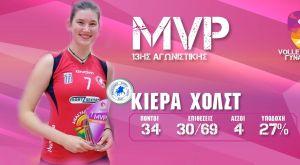 Ανυπομονεί να παίξει με τον Ολυμπιακό η MVP, Κιέρα Χολστ