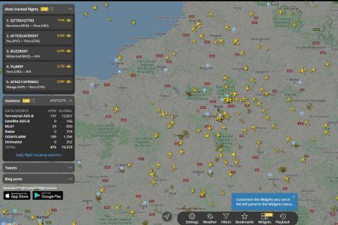 Η πτήση του Λιονέλ Μέσι στο Παρίσι μέσω του flightradar