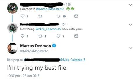 """Ντένμον για παραμονή Καλάθη: """"Κάνω ό,τι μπορώ φίλε"""""""