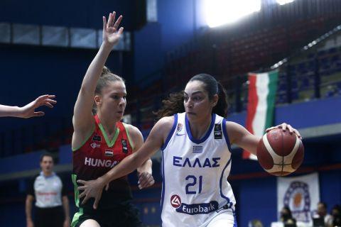 Η Ελεάννα Χριστινάκη με την φανέλα της Εθνικής ομάδας
