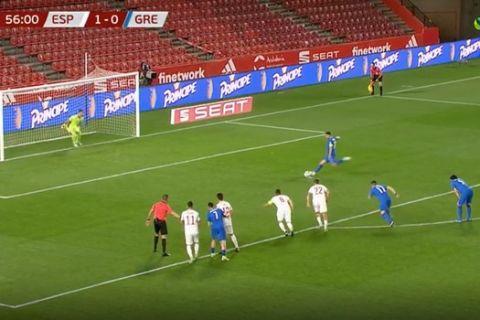 Ο Μπακασέτας ισοφαρίζει στο Ισπανία - Ελλάδα σε 1-1 για τα προκριματικά του Παγκοσμίου.