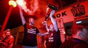 Πανικός στην υποδοχή των Πρωταθλητών στην Θεσσαλονίκη