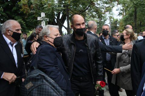 Ο Βασίλης Σπανούλης στην κηδεία του Ντούσαν Ίβκοβιτς
