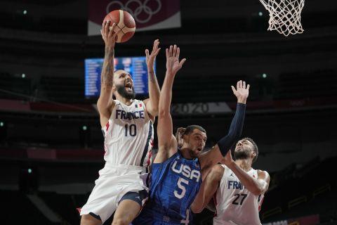 Ο Εβάν Φουρνιέ στην αναμέτρηση της Γαλλίας με την Team USA