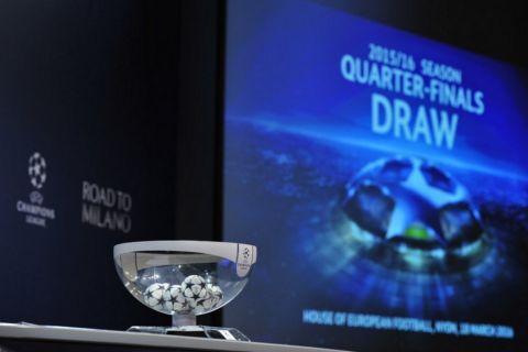 Κλήρωση Champions League: Τα ζευγάρια των προημιτελικών