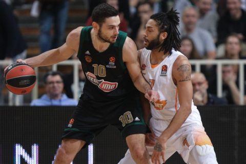 Ο Παπαπέτρου ποστάρει τον Χένρι σε αγώνα ανάμεσα σε Παναθηναϊκό και Μπασκόνια για την EuroLeague