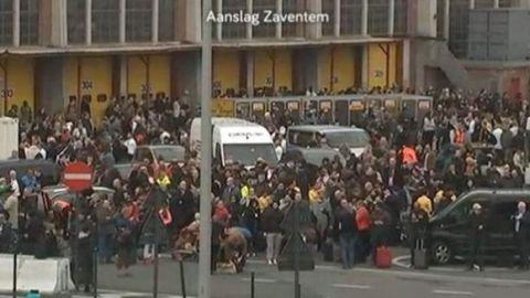 Eικόνες από το τρομοκρατικό χτύπημα στις Βρυξέλλες