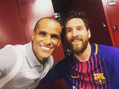 H selfie του Ριβάλντο με τον Μέσι μετά το Clasico