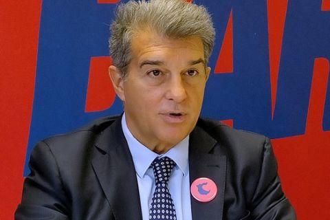 O Τζοάν Λαπόρτα, νικητής των εκλογών του 2021 για την ανάδειξη του νέου προέδρου της Μπαρτσελόνα