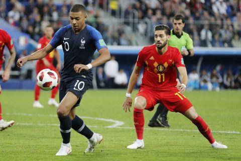 Μονομαχία Εμπαπέ - Καράσκο στον ημιτελικό του Παγκοσμίου Κυπέλλου του 2018 μεταξύ της Γαλλίας και του Βελγίου