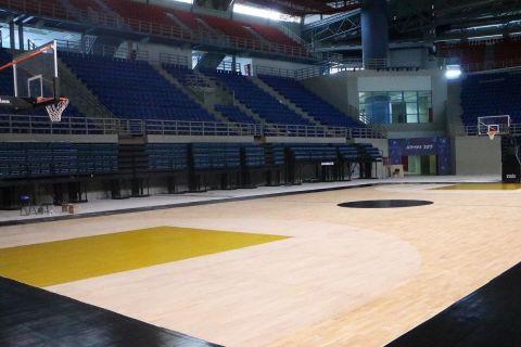 Το παρκέ στο γήπεδο μπάσκετ της ΑΕΚ στα Λιόσια