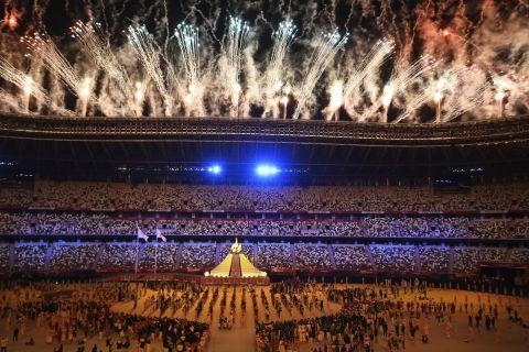 Στιγμές απ' την τελετή έναρξης των Ολυμπιακών Αγώνων