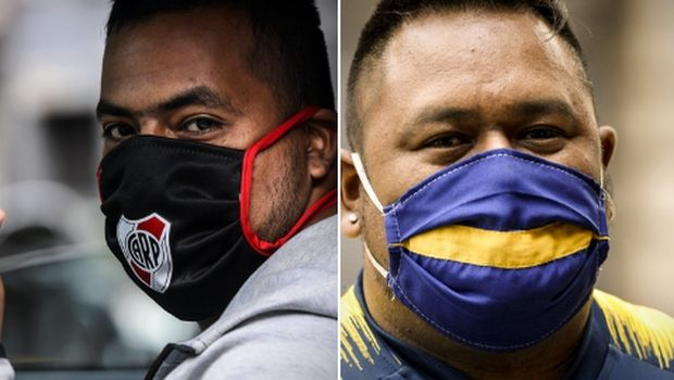 Προστατευτικές μάσκες με το σήμα των Ρίβερ Πλέιτ και Μπόκα Τζούνιορς!