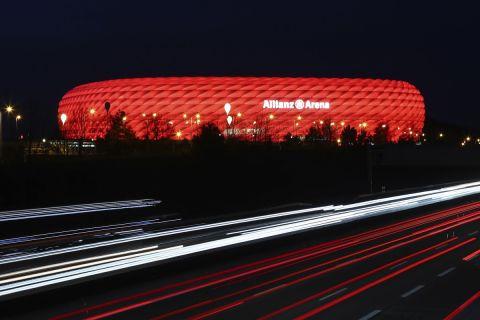 """Εξωτερική φωτογραφία από το """"Allianz Arena"""""""