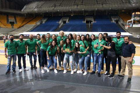 Η γυναικεία ομάδα μπάσκετ του Παναθηναϊκού βραβεύτηκε από την ΚΑΕ /3-6-2021