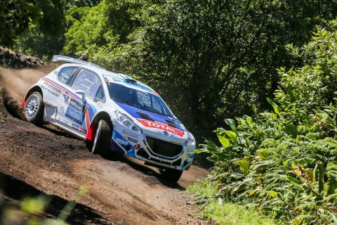 01 BREEN Craig MARTIN Scott PEUGEOT 208 T16 action during the 2015 European Rally Championship ERC Azores rally,  from June 3 to 6th, at Ponta Delgada, Portugal. Photo Jorge Cunha / DPPI